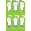 8513 LED 9W Frosted GLS ES/E27 Cap *6 Pack Bundle*