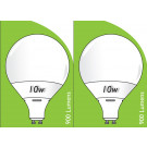 8534 10W L1/GU10 Plastic / Aluminium LED Globe *2 Pack Bundle*