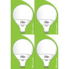 8534 10W L1/GU10 Plastic / Aluminium LED Globe *4 Pack Bundle*