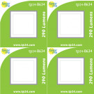 8634 3.5W G40 SMD LED FROSTED SQUARE LAMP *4 Pack Bundle*