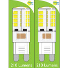 8660 4W G9 LED Silicon Lamp *2 Pack Bundle*