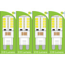 8660 4W G9 LED Silicon Lamp *4 Pack Bundle*