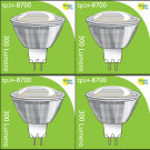 8700 3.5W MR16/ GU5.3 LED Spot Clear (Replacement for 2900/2902) *4 Pack Bundle*