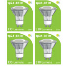 8710 LED 3.5W Clear Spot L1/GU10 Cap (2882 & 2880 Replacement) *4 Pack Bundle*