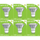 8710 LED 3.5W Clear Spot L1/GU10 Cap (2882 & 2880 Replacement) *6 Pack Bundle*