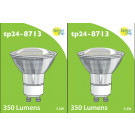8713 LED 3.5W Clear Spot L1/GU10 Cap (2882 & 2880 Replacement) 4000K  *2 Pack Bundle*
