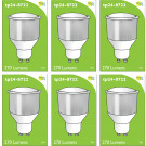 8722 LED 3.5W Opaque Spot L1/GU10 Cap (2842, 2886, 2884 & 2318 Replacement) *6 Pack Bundle*