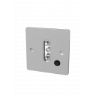9071 Single Standard Wall Face Plate With Switch Chrome