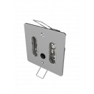 9072 Double Standard Wall Face Plate With Switch Chrome