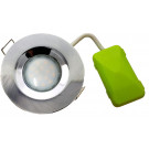 5759 G40 IP65 Downlight Earthed Model Satin Silver Inc Dimmable Lamps *6 Pack Bundle*