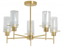 Canberra 5 Arm in Satin Brass