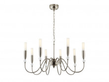 Dorchester 8 Arm Pendant in Satin Silver