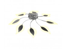3418 Organics 8 Arm Lilac Leaf Semi-Flush Ceiling Light in Chrome