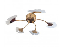 3435 Organics Ginko 5 arm flush ceiling light