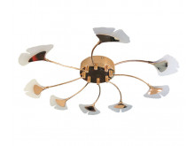 3438 Organics Ginko 8 arm flush ceiling light