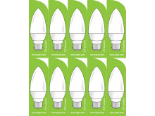 3751 LED 4W Frosted Candle BC/B22 Cap *10 Pack Bundle*