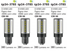 3785 LED 3W Clear Pygmy SES/E14 Cap *4 Pack Bundle*