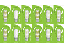 3821 LED 5W Clear GLS BC/B22 Cap *12 Pack Bundle*
