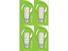 3821 LED 5W Clear GLS BC/B22 Cap *4 Pack Bundle*