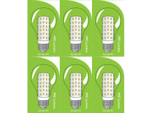 3822 LED 5W Clear GLS ES/E27 Cap *6 Pack Bundle*