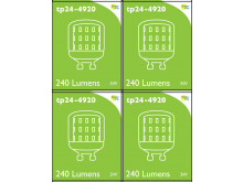 4920 LED 3W Clear Pygmy L1-X Cap *4 Pack Bundle*
