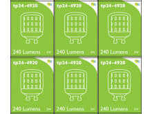 4920 LED 3W Clear Pygmy L1-X Cap *6 Pack Bundle*