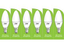 8030 5w B15/SBC LED Frosted Candle *6 Pack Bundle*