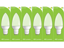 8034 4w L1/ GU10 Frosted LED Candle (4900, 2860 & 2310 Replacement) *6 Pack Bundle*