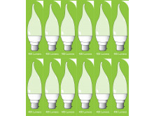 8041 5w BC/B22 Frosted LED Candle Tip *12 Pack Bundle*