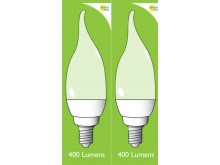 8042 5w E14/SES Frosted LED Candle Tip *2 Pack Bundle*