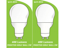 8054 5w L1 LED FROSTED GOLF BALL *Replacement for 4901, 4902 2861* *2 Pack Bundle*