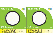 8132 Frosted Round G40 SMD LED Dimmable *2 Pack Bundle*