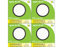 8132 Frosted Round G40 SMD LED Dimmable *4 Pack Bundle*