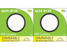 8136 G40 SMD 5W Round Frosted Dimmable 4000K (daylight) *2 Pack Bundle*