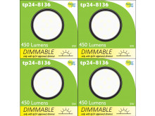 8136 G40 SMD 5W Round Frosted Dimmable 4000K (daylight) *4 Pack Bundle*