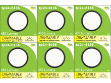 8136 G40 SMD 5W Round Frosted Dimmable 4000K (daylight) *6 Pack Bundle*