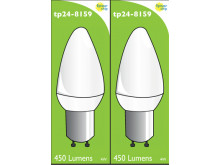 8159 L1 Clear 4W Candle Dimmable *2 Pack Bundle*