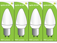 8159 L1 Clear 4W Candle Dimmable *4 Pack Bundle*