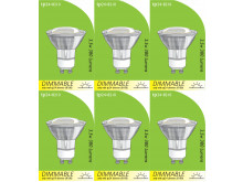 8210 GU10/L1 LED Spot Dimmable *6 Pack Bundle*