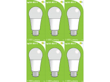 8511 LED 9W Frosted GLS BC/B22 Cap *6 Pack Bundle*