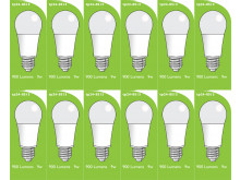 8513 LED 9W Frosted GLS ES/E27 Cap *12 Pack Bundle*