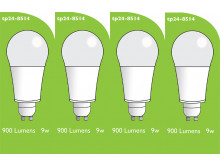 8514 LED 9W Frosted GLS L1/GU10 Cap (2315 Replacement) *4 Pack Bundle*