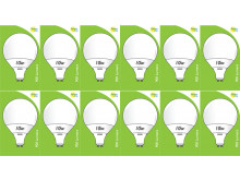 8534 10W L1/GU10 Plastic / Aluminium LED Globe *12 Pack Bundle*