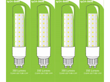 8600 L1/GU10 Tube Lamp LED 3.5w Clear Glass (2896 and 2317 replacement) * 4 Pack Bundle*