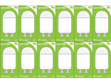 8668 0.6W Clear Mini Capsule *12 Pack Bundle*