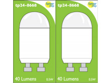 8668 0.6W Clear Mini Capsule *2 Pack Bundle*