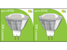 8700 3.5W MR16/ GU5.3 LED Spot Clear (Replacement for 2900/2902) *2 Pack Bundle*
