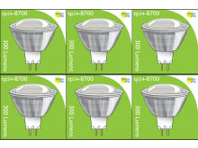 8700 3.5W MR16/ GU5.3 LED Spot Clear (Replacement for 2900/2902) *6 Pack Bundle*