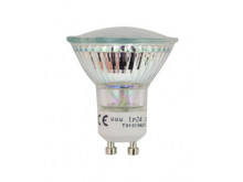 8713 LED 3.5w COOL WHITE Clear L1/GU10 Cap (2882 & 2880 Replacement) 4000K