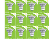 8710 LED 3.5W Clear Spot L1/GU10 Cap (2882 & 2880 Replacement) *12 Pack Bundle*